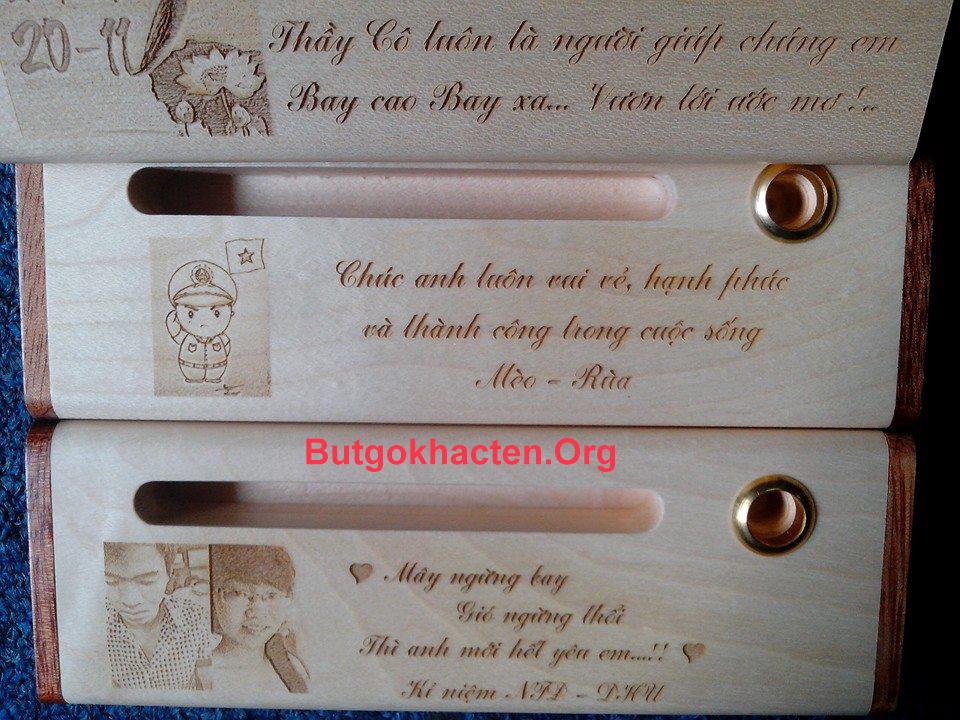 Bút gỗ khắc tên - Quà tặng thân thương dành cho bạn bè, người thân